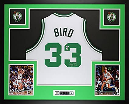 factory price f1f23 405c4 Larry Bird Autographed White Celtics Jersey - Beautifully ...