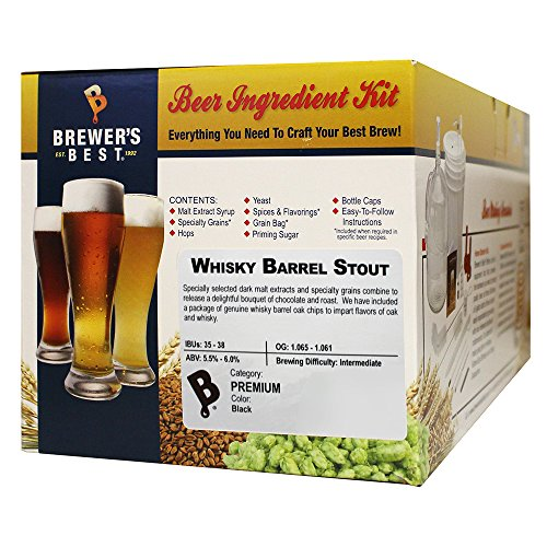 Brewers Best Whiskey Barrel Stout Beer Ingredient (Stout Ingredient Kit)