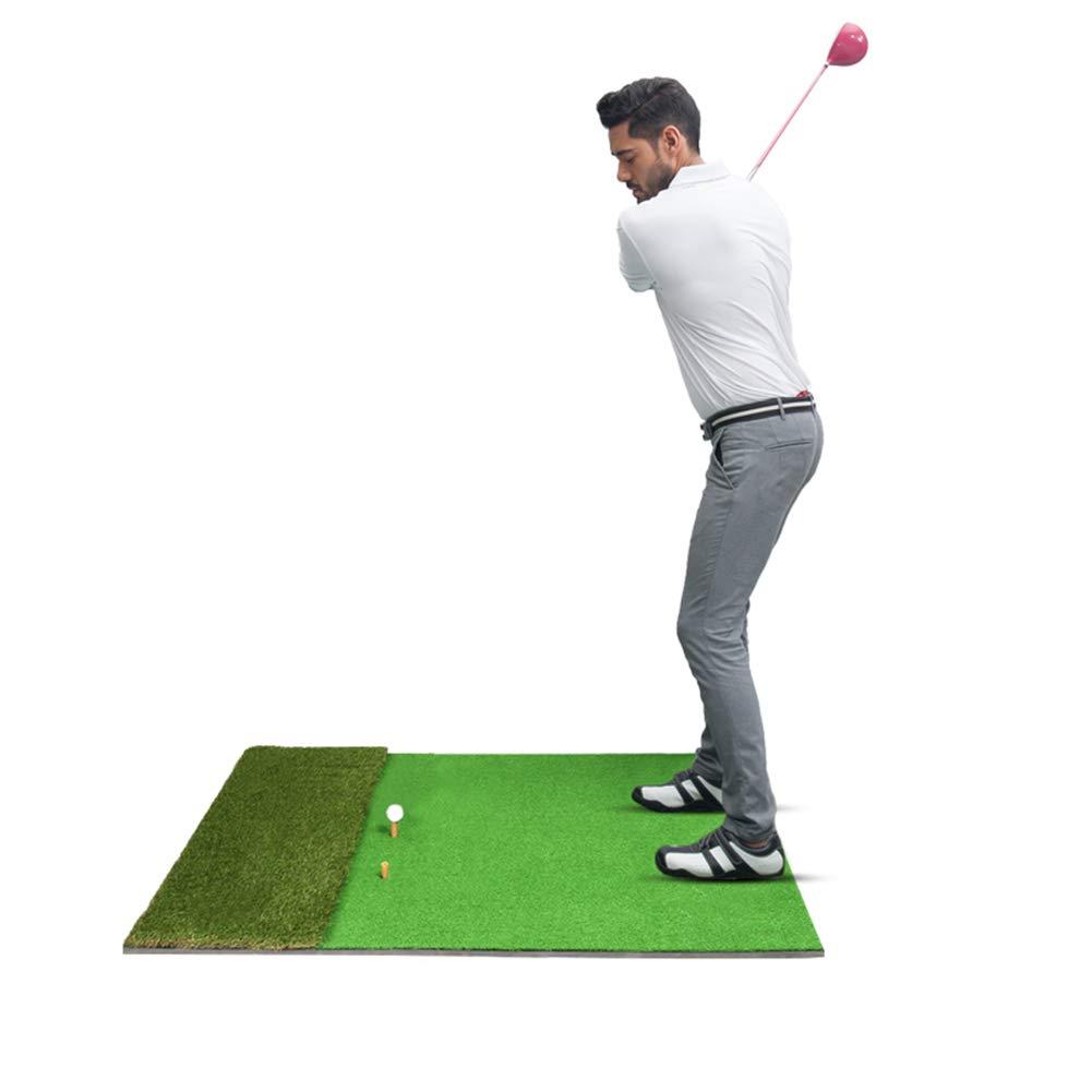 パッティングマット ゴルフパッティング練習用マット、携帯用ドライビング、チッピング、訓練用具、住宅裏庭用機器および屋内練習用芝(5ftx3.3ft)   B07MFG8FVF