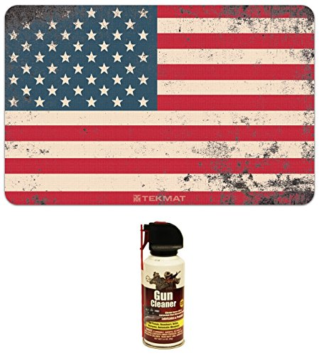 Ultimate Arms Gear Old Glory US American Flag Gunsmith & Armorer's Cleaning Work Tool Bench Pistol Handgun Gun Mat + Cleaner Lubricant Protector Spray - Gunsmith Wesson