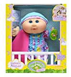 "Cabbage Patch Kids 12.5"" Naptime Babies - Blonde Hair/Blue Eye Girl Baby Doll (Lavender Sleep Sack Fashion)"