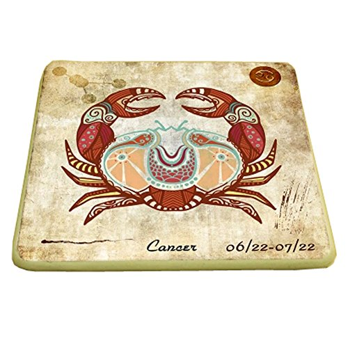 Set of 6 Square Drink Holder Cup Coaster Personalized Coast Cup Tray, F