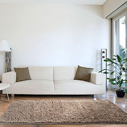 Lavish Home High Pile Shag Rug Carpet - Beige - 30x60