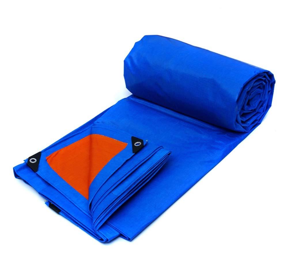 PE大型ターポリン両面防水ヘビーデューティー屋外サンシェードレインサンスクリーン防風オレンジブルー (サイズ さいず : 10X8M) 10X8M  B07GXMF5ZW