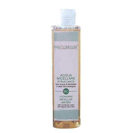 Equilibrium - Cosmesi naturale limpieza Micellar Agua con color azul claro agua y orgánica Aloe Vera