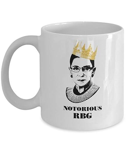 0c94ad46b18 Notorious RBG Mug - Ruth Bader Ginsberg Mug (White) - I Dissent Mug - Ruth  Bader Ginsberg Coffee Mug Cup - 11oz Ruth Bader Coffee Mug Cup is The  Perfect ...