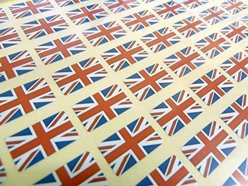 Paquete 64 , 20x12mm , Bandera Reino Unido autoadhesivo Bandera de GB Etiquetas Gran Bretaña Pegatinas: Amazon.es: Oficina y papelería