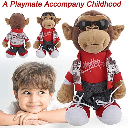 Plush Dolls Clearance , Adorable Electronic Monkey Dancing Singing Music Cute Stuffed Plush Toy for Kids Gifts (B) ()