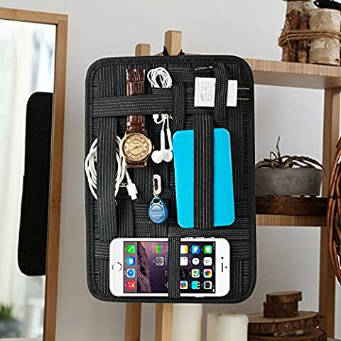 Kopack Electronics Organizer Board Cord Gadget Organizer With Storage bag for Power Bank/Charging Cable/Digital (201 Daily Planner)