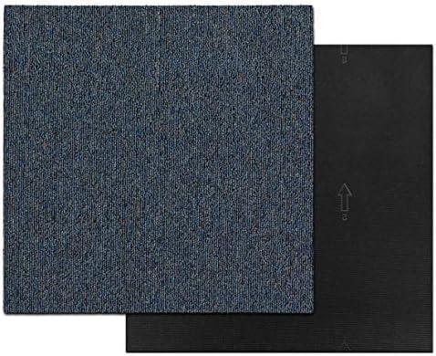 1 m/² Set Meisterei Floordirekt Design Teppichfliesen Moskau 50x50 cm selbstliegend antistatisch mit Bitumen R/ücken Blau strapazierf/ähiger Teppich Bodenbelag mit hochwertigem Schlingenflor