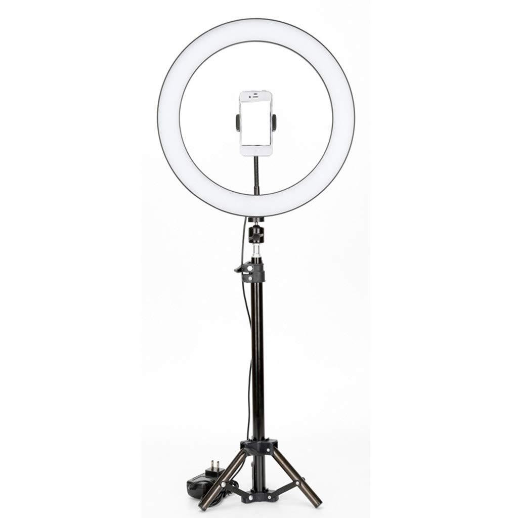 リングライト、18インチ100ワットled調光リングライト調節可能な色温度2700K-6500Kスタンド電話ホルダー用ポートレートビデオメイク  Floor stand B07MKC8F41