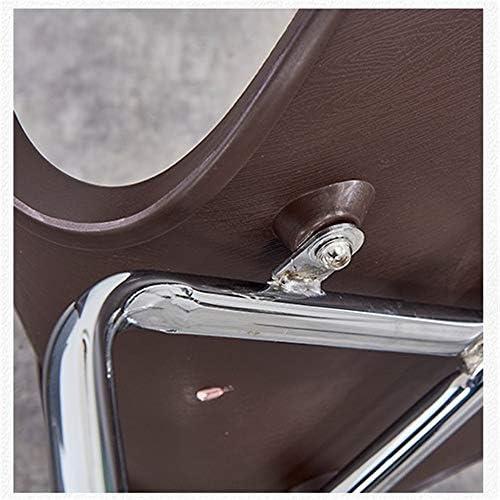 SSZZ Moderne Minimaliste Chaise en Fer Forgé, Restaurant Mode Creative Papillon Président, Accueil Chaise en Acier Inoxydable Chaise Dossier,Bleu