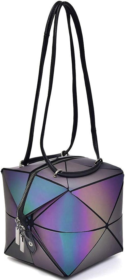 Fashion Women/'s handbag Black matte holographic clutch bag