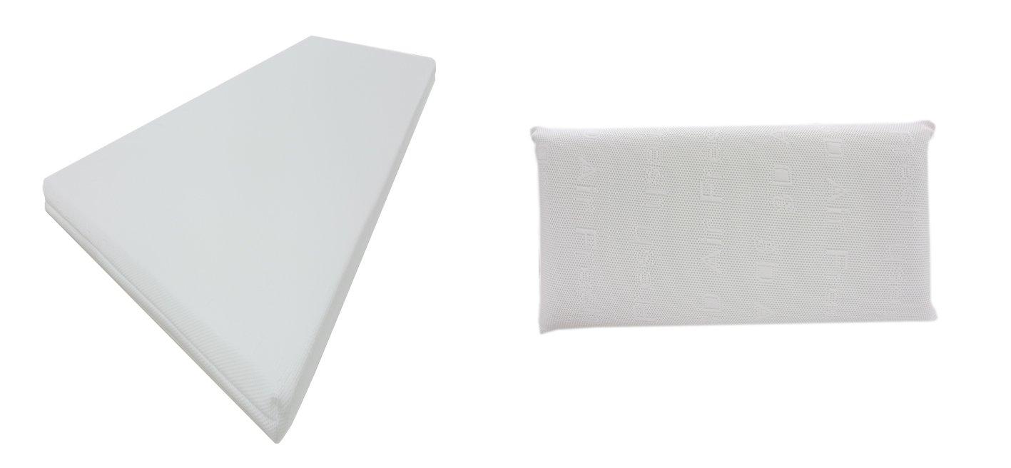 Dibapur® : Q 3D Air Fresh Set - 9 Zonen Orthopädische Kaltschaummatratze + Visco (40x70x14) Kopfkissen (Set 200x200) x ca.15,5 cm Kern mit 3D Air Fresh Bezug ca. 16 cm Härtegrad: H2,5 (bis ca. 110 kg) Q steht für Qualität. Made in Germany