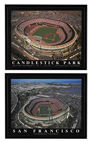 58a3f2c73 Historic Stadiums - - San Francisco Giants Candlestick Park (Final Game)   San  Francisco 49 ers Candlestick Park Framed Aerial Prints Set of 2