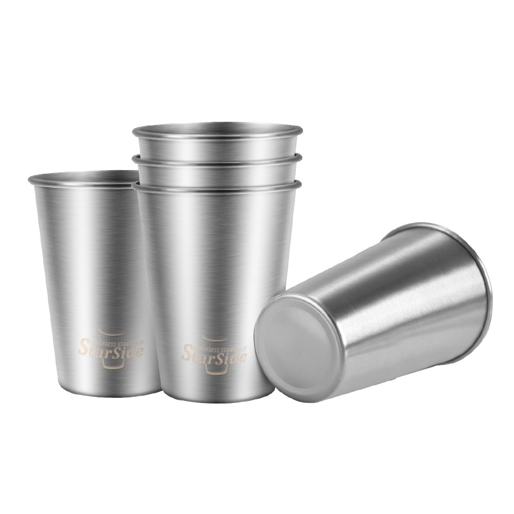 素敵な ステンレススチールPintカップ、環境に優しいBPAフリー、壊れない pack、スタッカブル STSD350-5 B077SNBVMM、メタル飲料カップ、Beeringカップ、ジュースカップ。Perfect for旅行、アウトドア、キャンプ、日常使用屋内。 12oz-5 pack シルバー STSD350-5 12oz-5 pack B077SNBVMM, 賀茂郡:6df26ff7 --- beyonddefeat.com