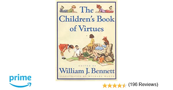 Counting Number worksheets inferring character traits worksheets : The Children's Book of Virtues: William J. Bennett, Michael Hague ...