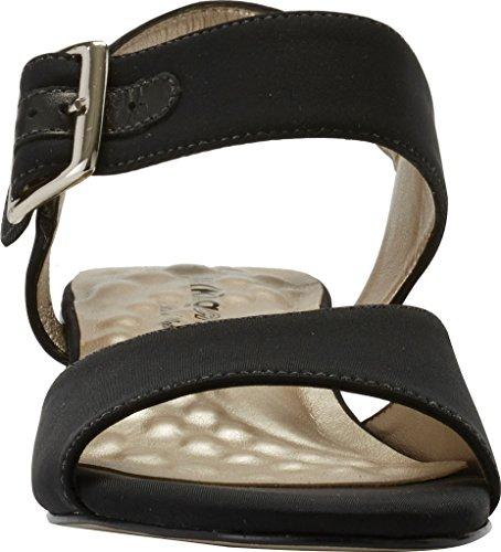 Cradles Women's Black Walking Micro Heeled Patent Macau Sandal d7C5qT