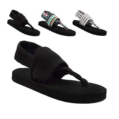 Amazon.com: SOSUSHOE - Sandalias de yoga para mujer, negro ...