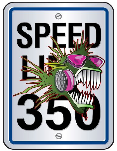 Nostalgia Decals Nitro Fish 350 Speed Limit Decal 5