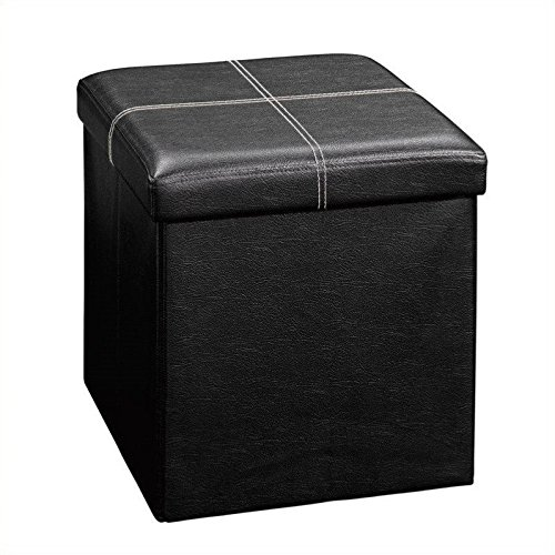 Sauder Beginnings Storage Ottoman, Small, Black