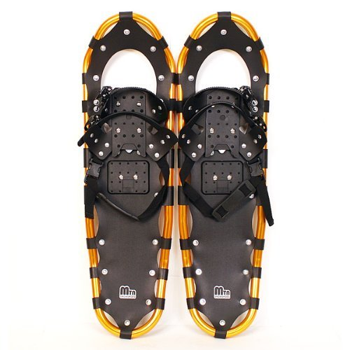 New MTN Extreme Lightweight All Terrian Man Woman Kid Teen Snowshoes up to 255 lbs /Free Bag - GOLD (30'' inch) by MTN Snowshoes
