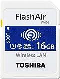 Toshiba FlashAir W-04 16 GB SDHC Class 10 Memory Card