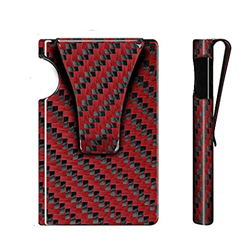Veanic Slim Carbon Fiber Credit Card Holder Minimalist Business Card ID Holder RFID Blocking Front Pocket Wallet Money Clip
