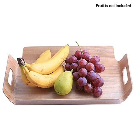 QFYUTEOP Frutas Manijas de Madera Panadería Bandeja de Mesa ...