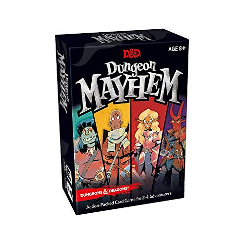 Dungeon Mayhem | Dungeons & Dragons Card Game | 2-4 Players, 120 Cards