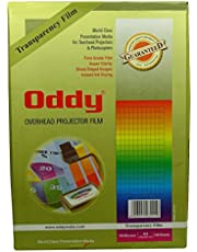 Oddy A4 Micron High Grade Clear OHP Transparent Film 210 X 297 mm Laser Printers & Copiers - 100 Sheets