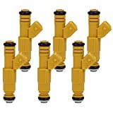 #2: Fuel Injector For JEEP Grand Cherokee Wrangler Comanche 4.0L 0280155700, 0280155710 (Pack of 6)