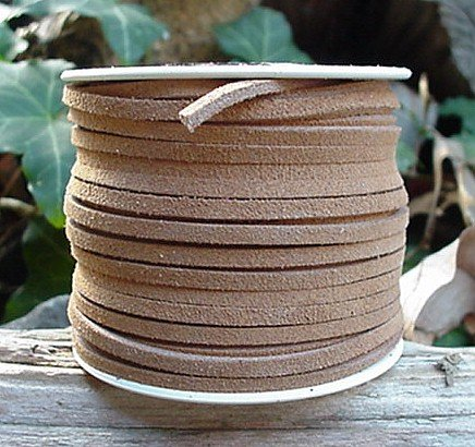 Lace Lacing Leather Suede, Very Light Brown (Beige) 25 Yard Spool (Beige Light Leather)