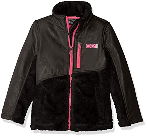 DEGREES Dewspo System Girls Jacket Black Monkey Fleece 32 a Embossed Jacket PRZqdZ4