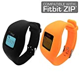 Fitbit Zip Band By Allrun, Newest Replacement Band for Fitbit Zip Accessory Wristband Bracelet (No tracker) (Black&Orange)