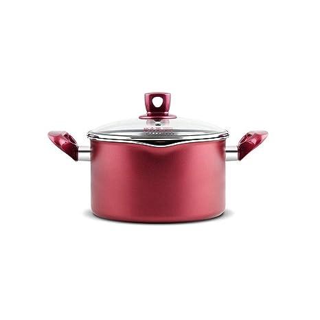 FF Sopa Olla Antiadherente Pan Binaural Sopa Leche Sopa Doméstica Estofado Olla Espesar Inferior Cocina de