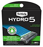 Schick Hydro Sense Sensitive Mens Razor Blade Refill with Sensitive Gel, Includes 8 Razor Blades Refills