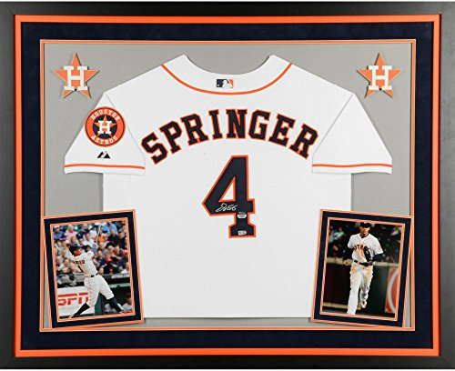 George Springer Houston Astros Deluxe Framed Autographed Majestic Authentic Home Jersey - Fanatics Authentic - Jersey Autographed Home Authentic Majestic