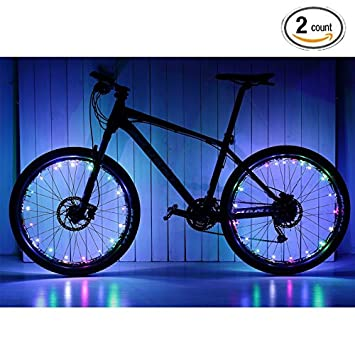 Soondar Uprated USB Powered Rechargeable Water Resistant Cool 20 LED Bicycle Bike Cycling Wheel Light Safety Light Spoke Light Lamp Lightweight Accessory