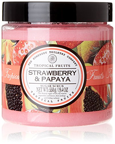 Papaya Strawberry - Tropical Fruits Strawberry & Papaya Sugar Scrub 550g