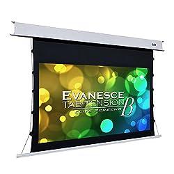 Elite Screens Evanesce Tab Tension B 92 Inch Diagonal 16 9 4k 8k Hd Ready Recessed In Ceiling Electric Tab Tensioned Projector Screen Matte White Projection Screen Surface Etb92hw2 E12