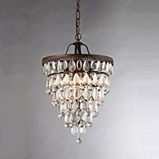 Whse of Tiffany RL8076 Matinee Inverted Pyramid Chandelier