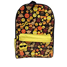 Kids Preferred Emoji Black Backpack Plush Toy