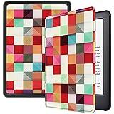 Capa para Novo Kindle 10a geração (aparelho com iluminação embutida) - rígida - sistema de hibernação (Geométrica)