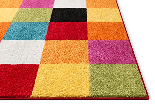 Well Woven Modern Rug Squares Multi Geometric Accent 3 3
