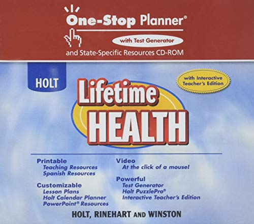 Lifetime Health: One-Stop Planner+ With Test Generator And State-Specific Resources CD-ROM (Test Generator)