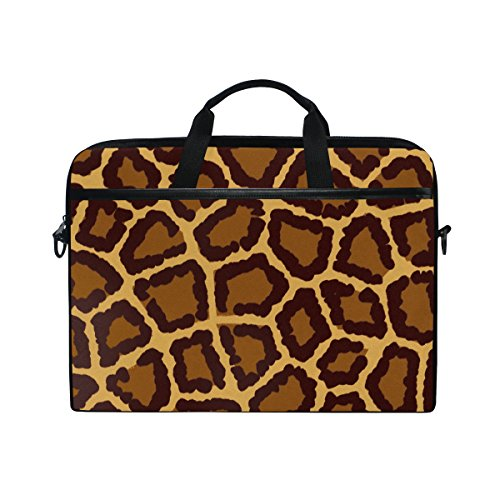 Laptop Case, Giraffe Print, Laptop Shoulder Messenger Bag Sleeve Notebook Tablet Cover Compatible 15 Inch - 15.4 Inch, Carrying Handbag Mac Macbook Computer Briefcase for Men Women