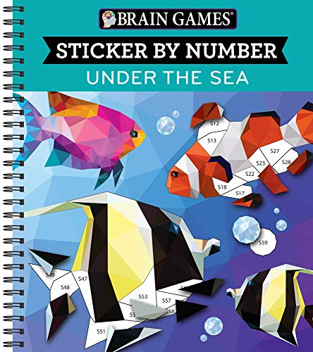 Brain Games - Sticker by Number: Under the Sea -