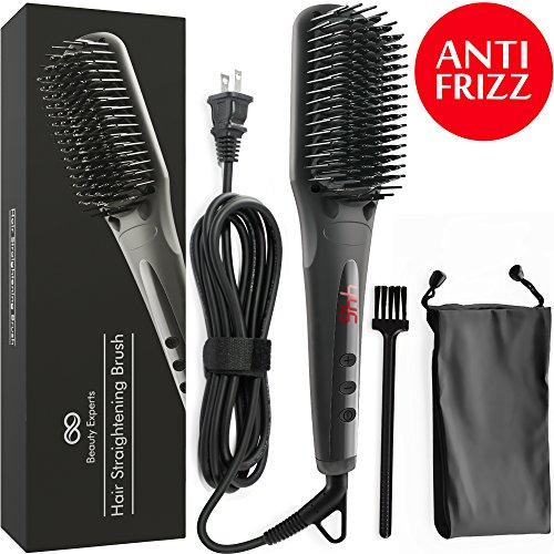 Hair Straightening Brush - Ceramic Iron Bristles Heat Hot Ionic Hair Straightener Brush - Frizz-Free - Best Professional Electric Hair Straightening Brush - Perfect Gift for Women - Anti Scald (Have Brush)