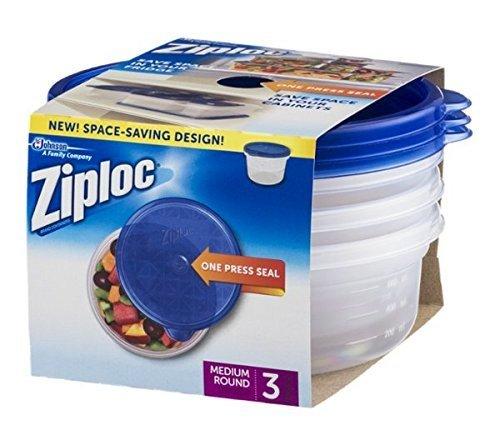 Price comparison product image Ziploc 70933 Medium Round Ziploc Container 3 Count